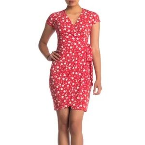 Maggy London Floral Wrap Style Dress